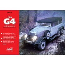 Typ G4 with open cover, WWII German Personnel Car