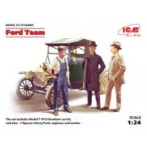 Ford Team: Model T 1912 Roadster + 3 figures