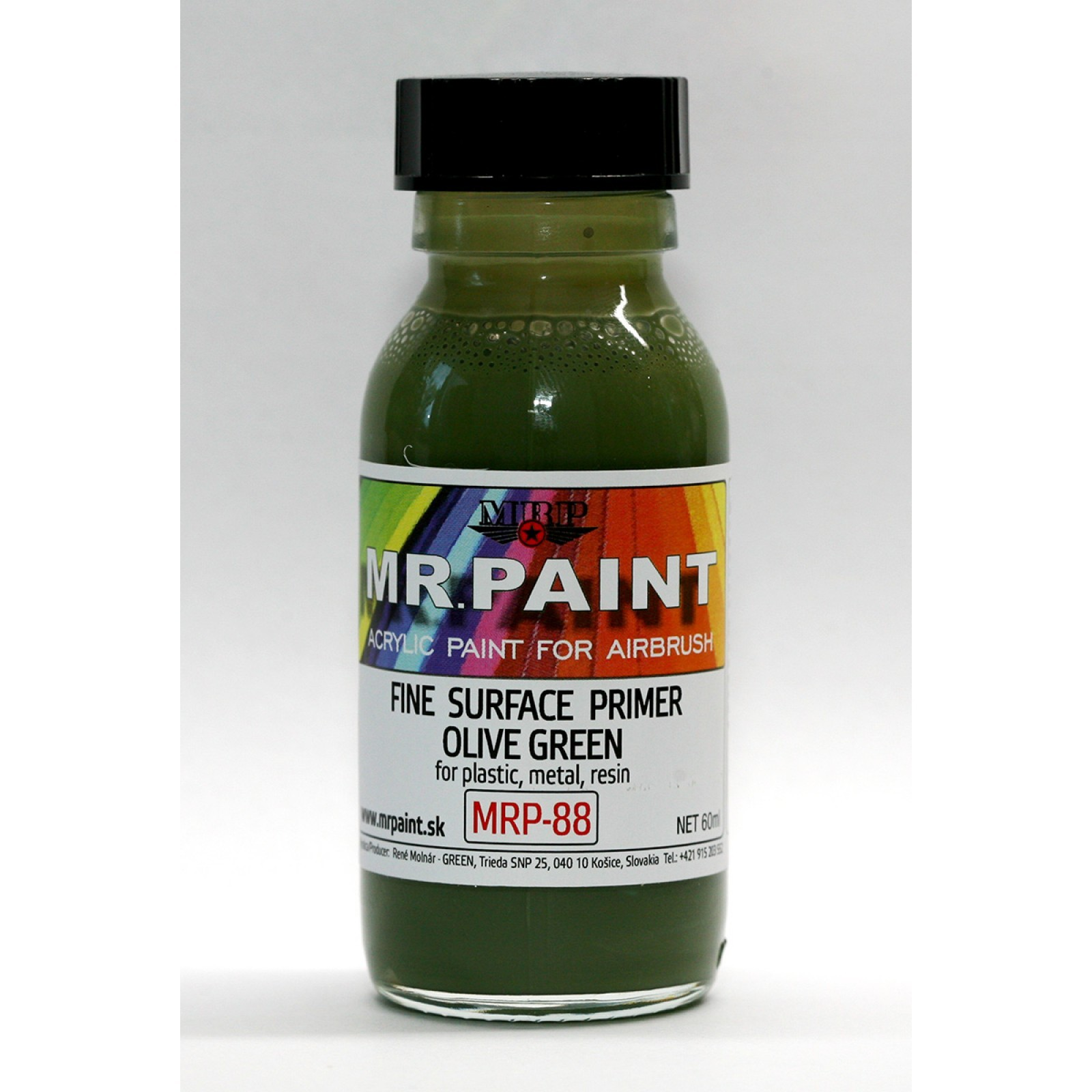 Fine surface primer olive green 60 ml BOKA