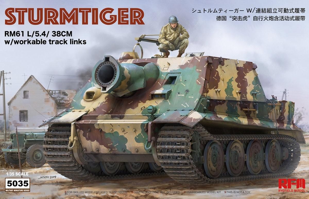 Sturmtiger Rm61 L/5.4/38cm W/Workable Track Links