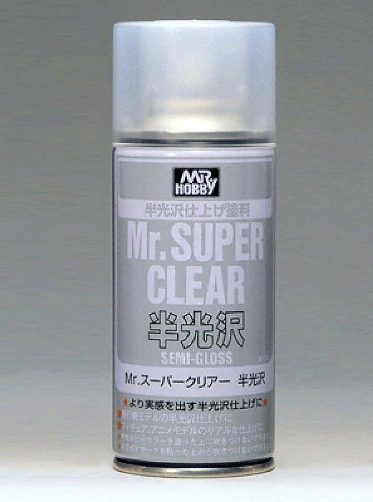 Klarlack halvblank, 170 ml Mr. Super Clear, aerosol