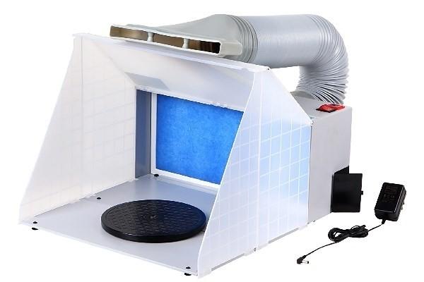 Spray Booth 100-240V w. AIR HOSE