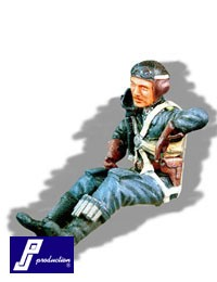 Luftwaffe pilot WWII, seated