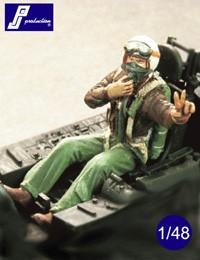 USAF pilot, seated, Korea