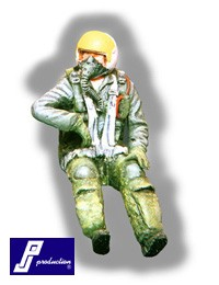 F-104 pilot, seated