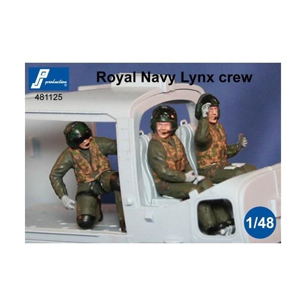 Royal Navy Lynx crew in a/c