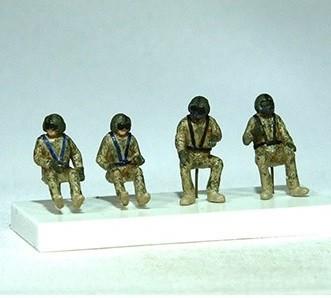 HU-60 Blackhawk crew, 4 figures