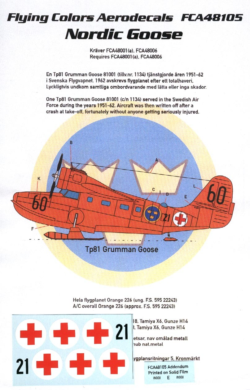 Nordic Goose: Tp81 Grumman Goose