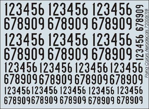 Svarta siffror 1936-62 smala
