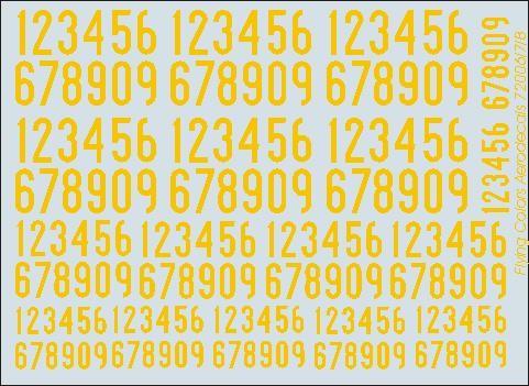 Gula siffror 1936-62 smala