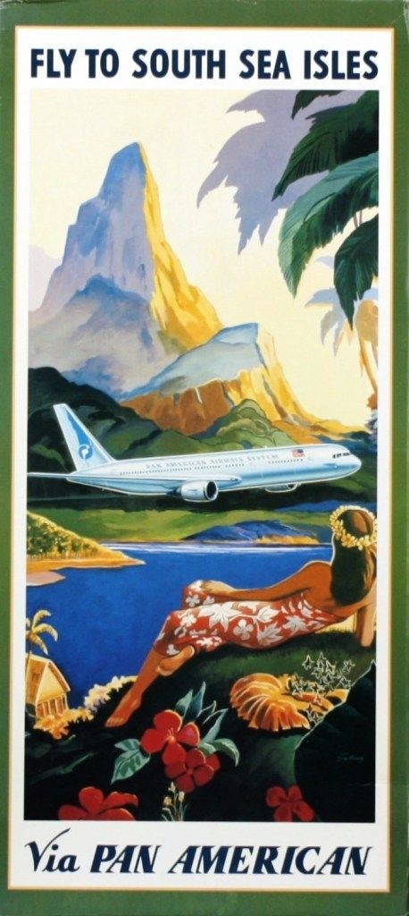 Boeing 777 Pan American; South sea isles