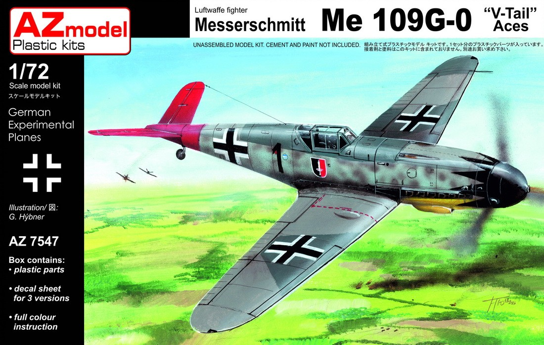 Bf109G-0 V-tail Aces