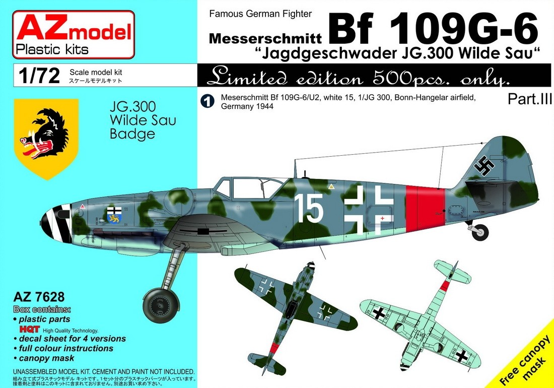 Bf109G-6 JG 300 Wilde Sau Pt.III