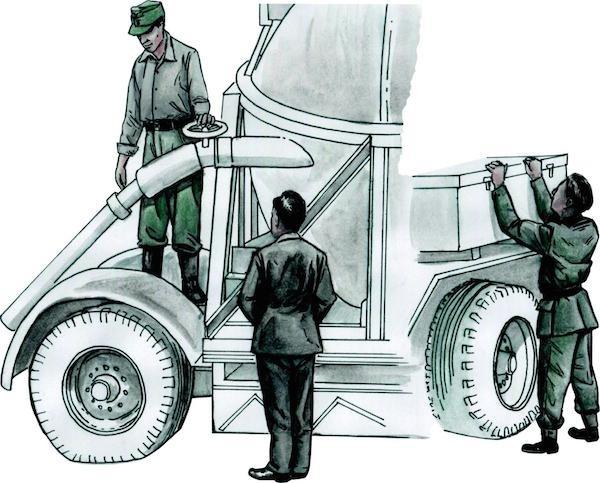 Werner von Braun with his inspection team