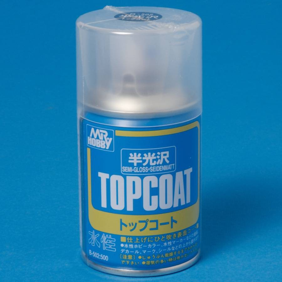 Klarlack, sidenmatt, 86 ml TOP COAT aerosol