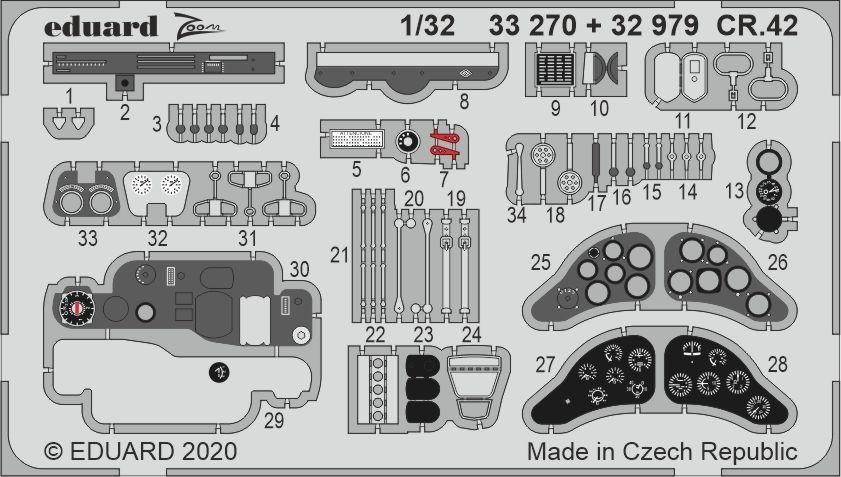 Fiat CR.42 cockpit (ICM)