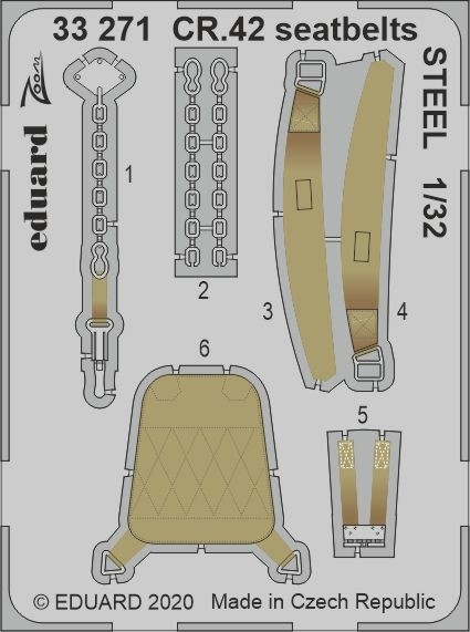 Fiat CR.42 seat belts (ICM)