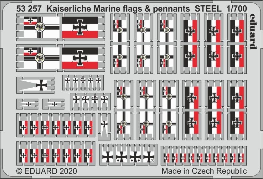 Kaiserlische Marine flags & pennants 1/700