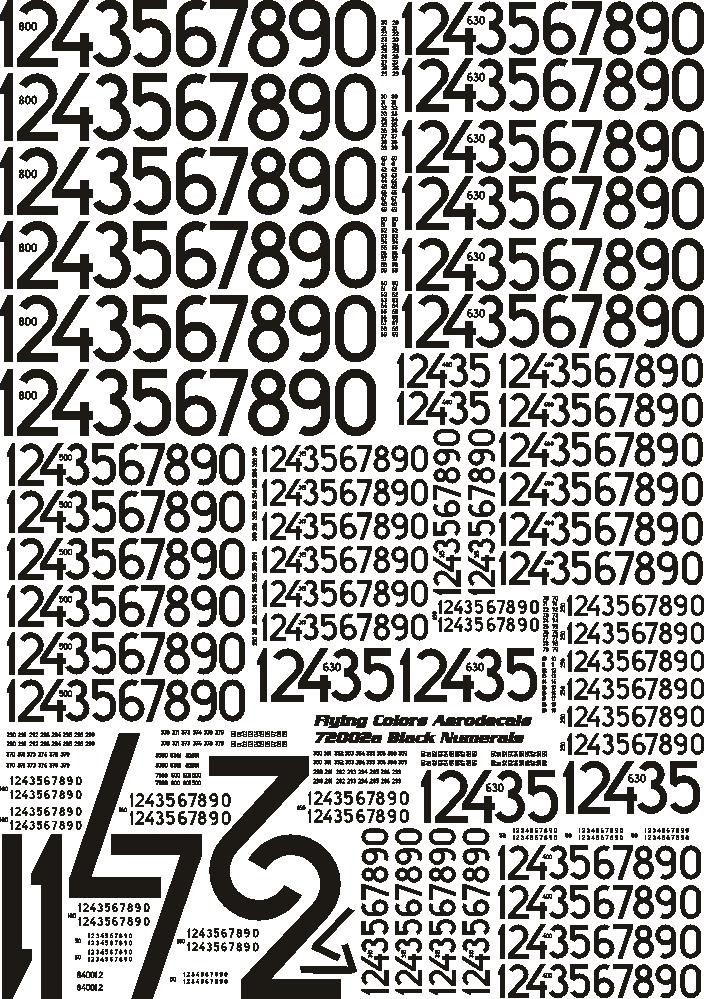 Svarta siffror moderna