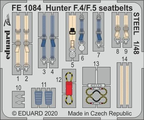 Hawker Hunter seat belts (Airfix)