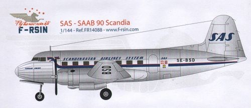 Saab 90 Scandia. Decals SAS