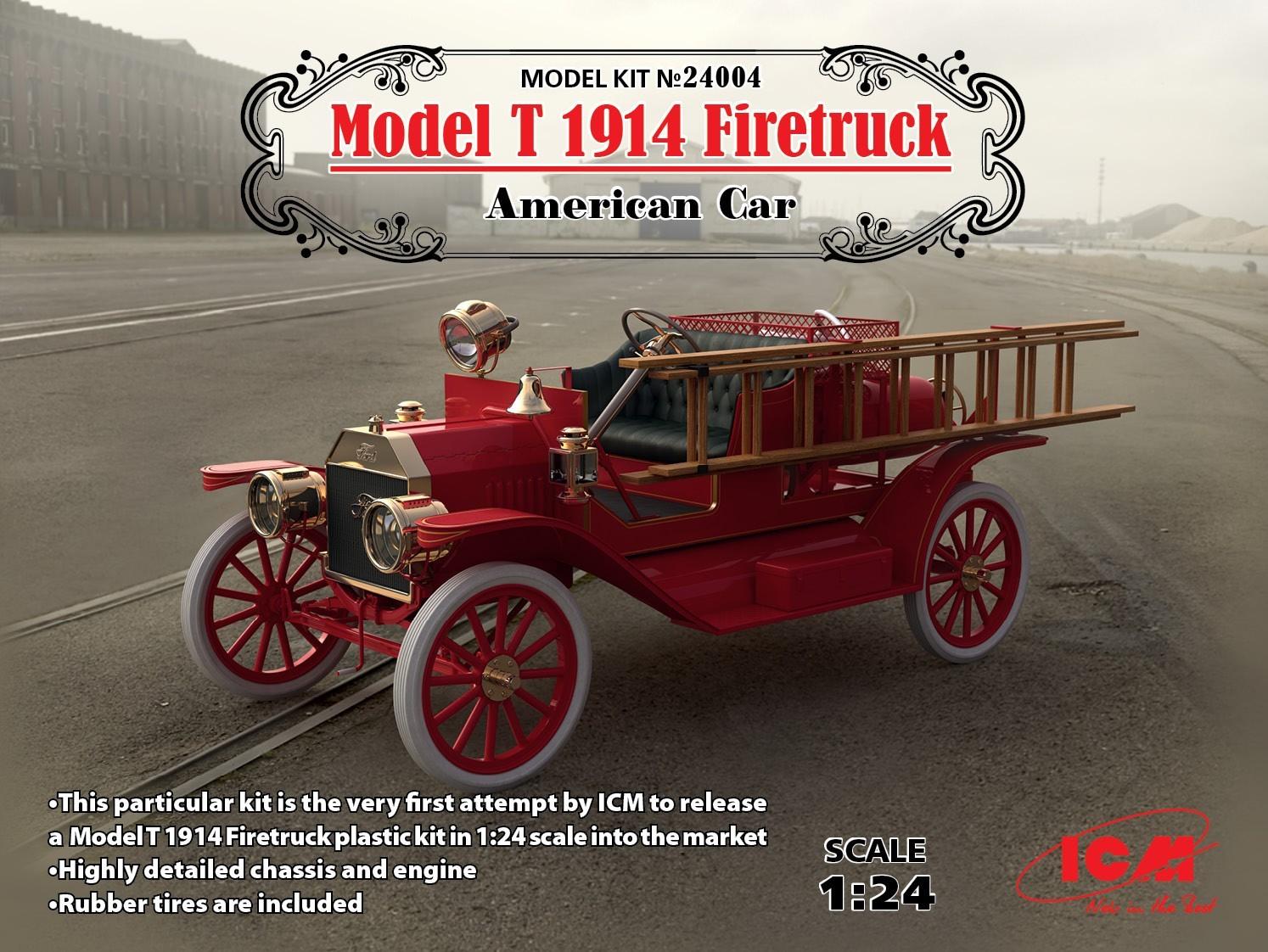 Model T 1914 Firetruck, American Car (100% new moulds)