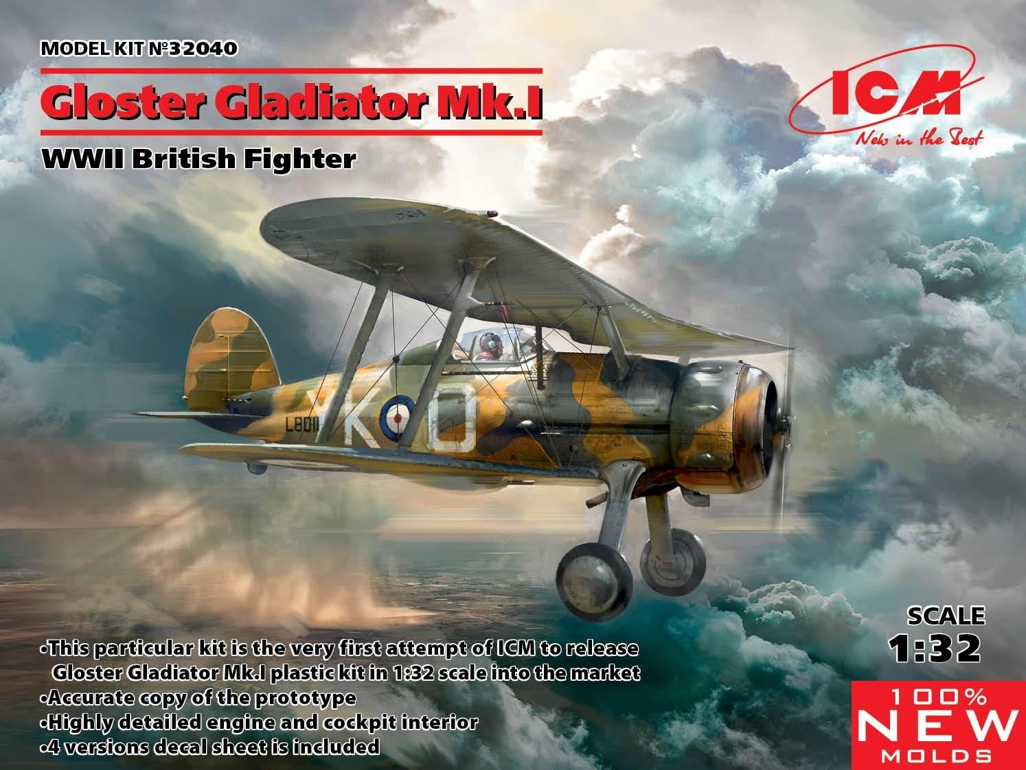 Gloster Gladiator Mk.I NEW TOOLS!