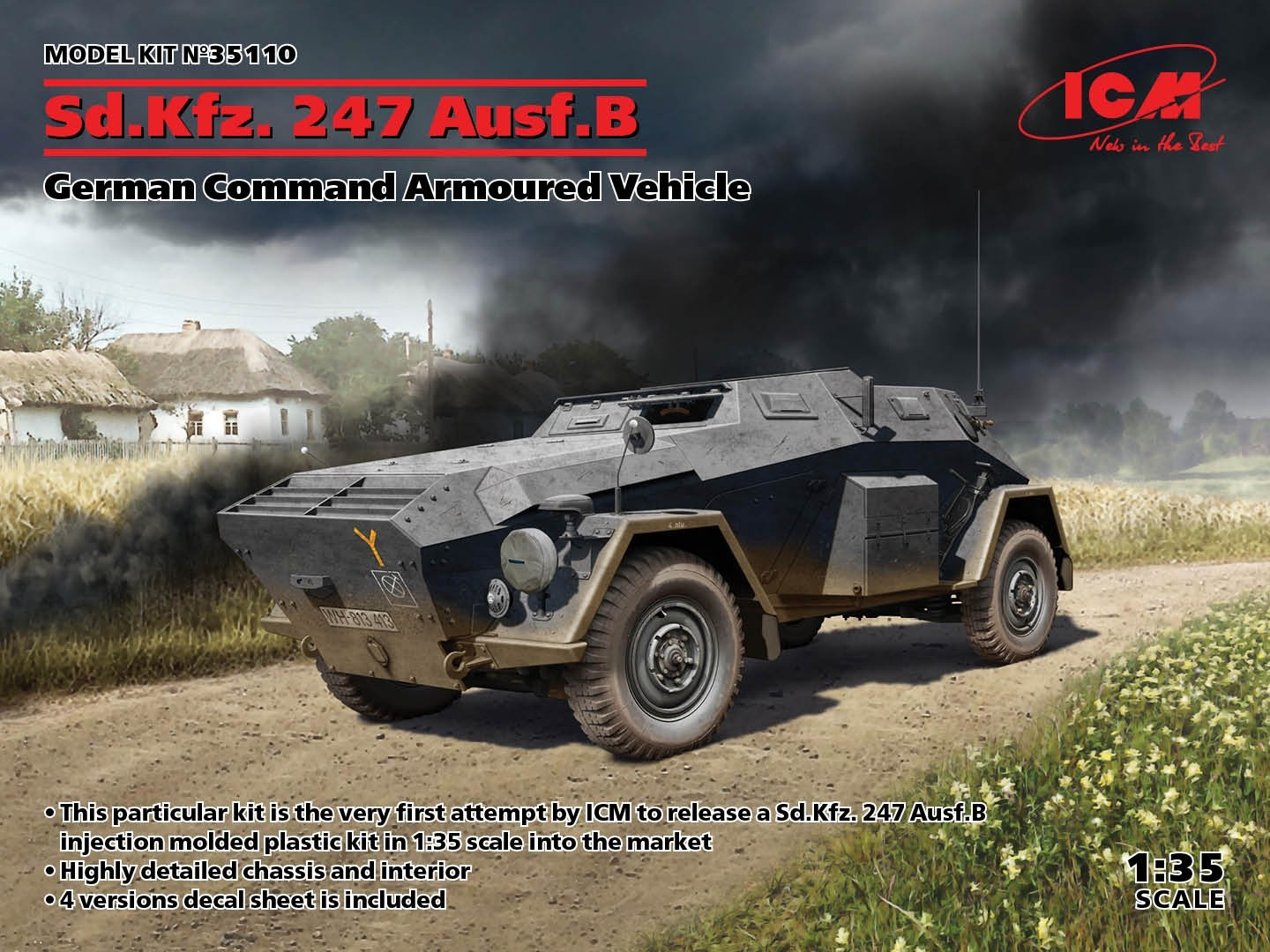 SdKfz 247 Ausf B. Command Armoured Vehicle NEW MOLD