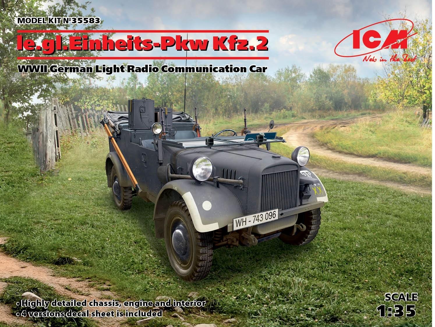 le.gl.Einheitz-Pkw Kfz.2, WWII German Light Radio Communication Car