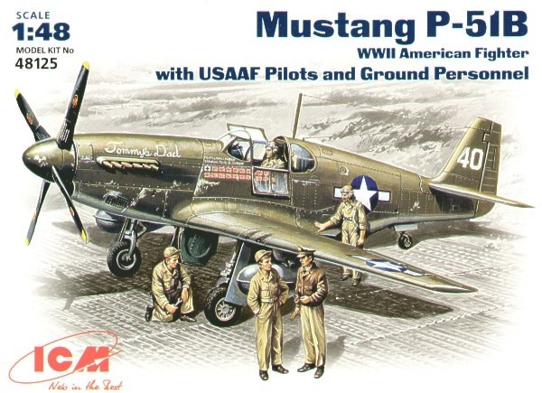 P-51B Mustang w. USAAF Pilots and Ground crew