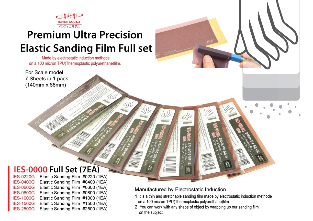 Elastic sanding file full set 7-pack (grit 220 till 2500)