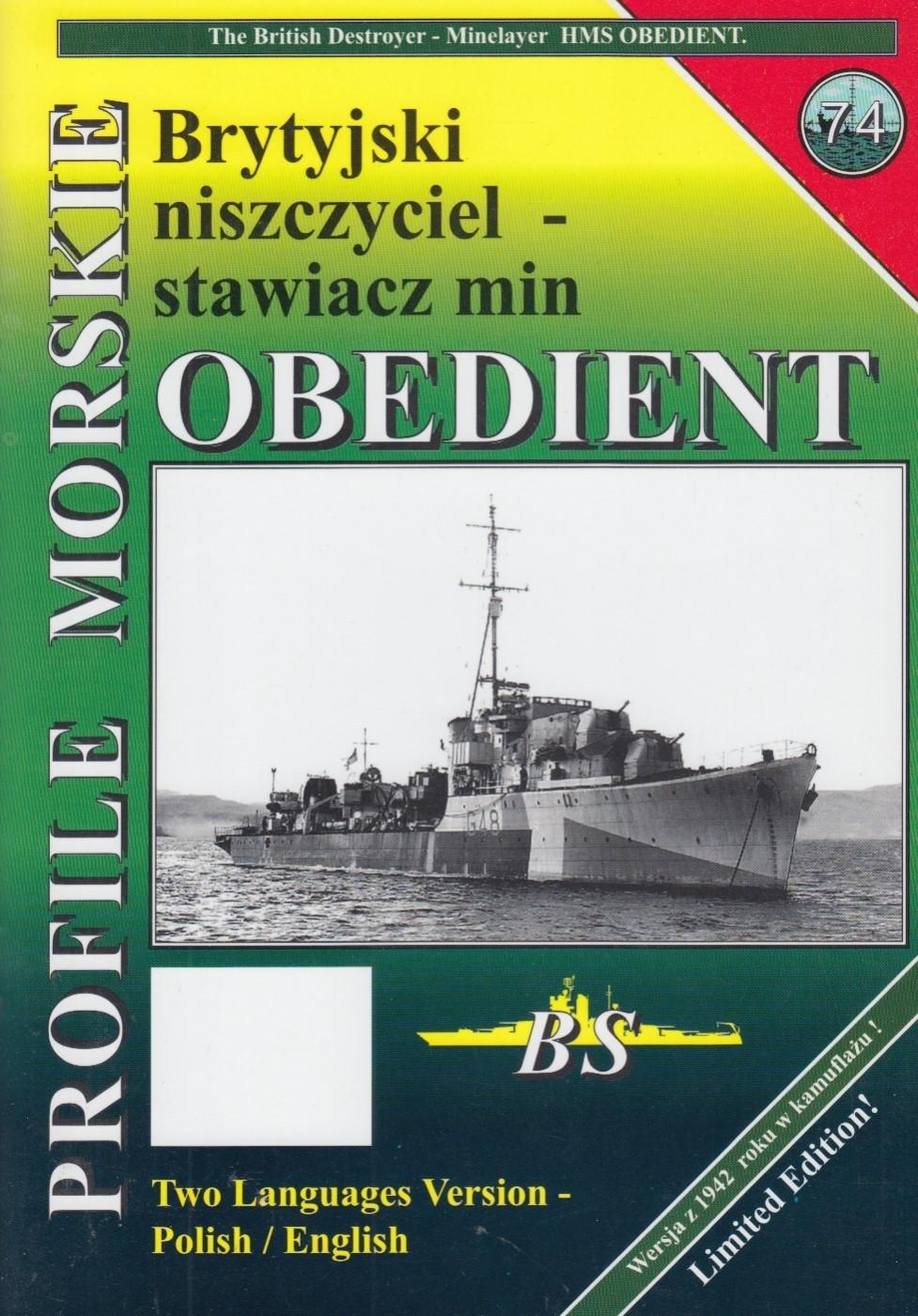 Destroyer / mine layer HMS OBEDIENT