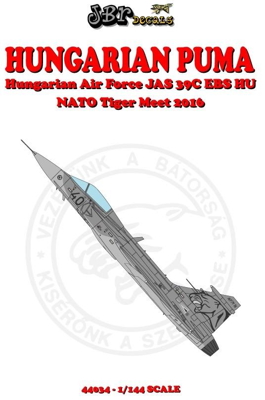 Hungarian JAS39 Gripen with NTM 2016 Puma tail art