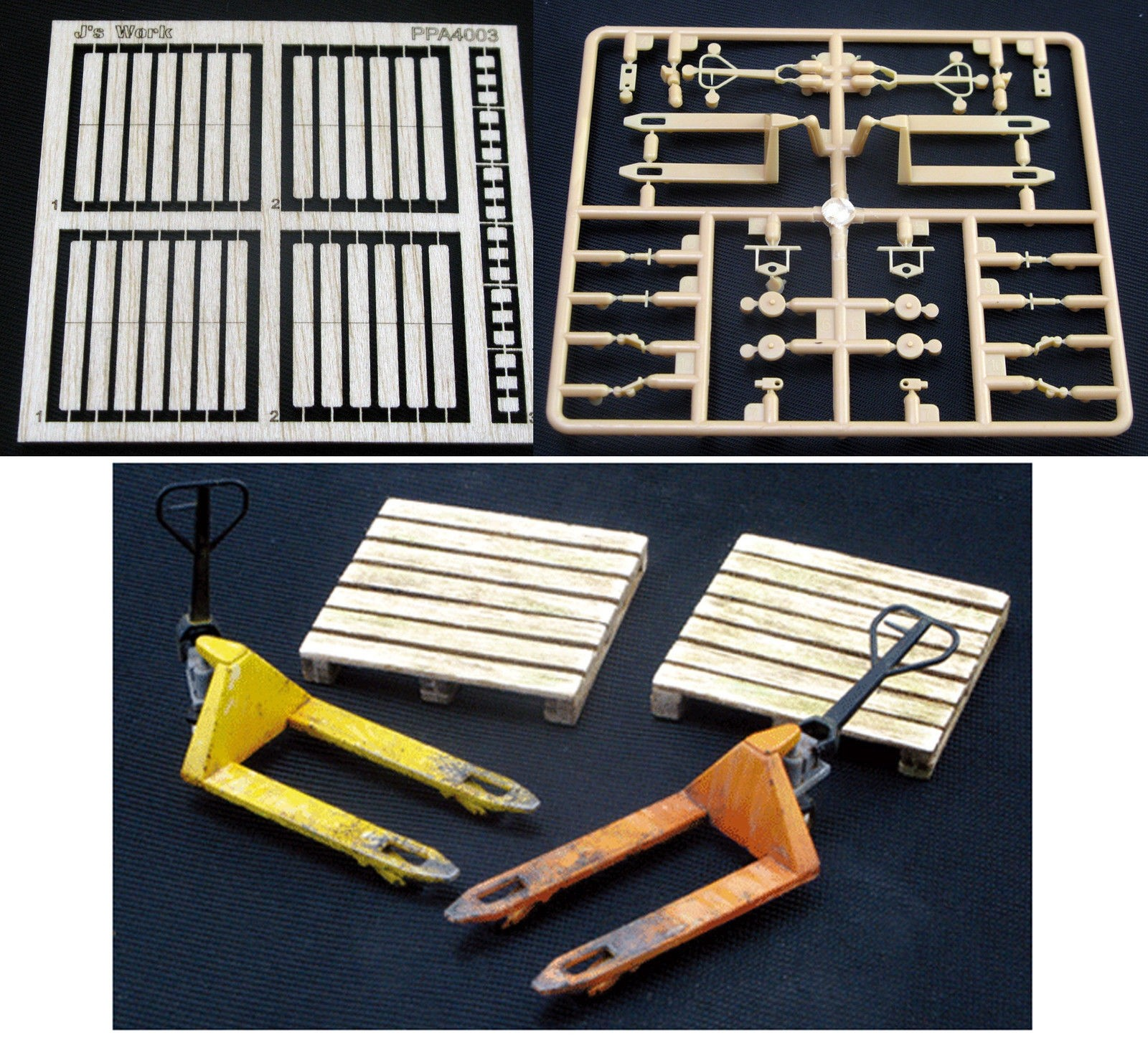 Pallet Truck with Wooden Pallet (2 sets)
