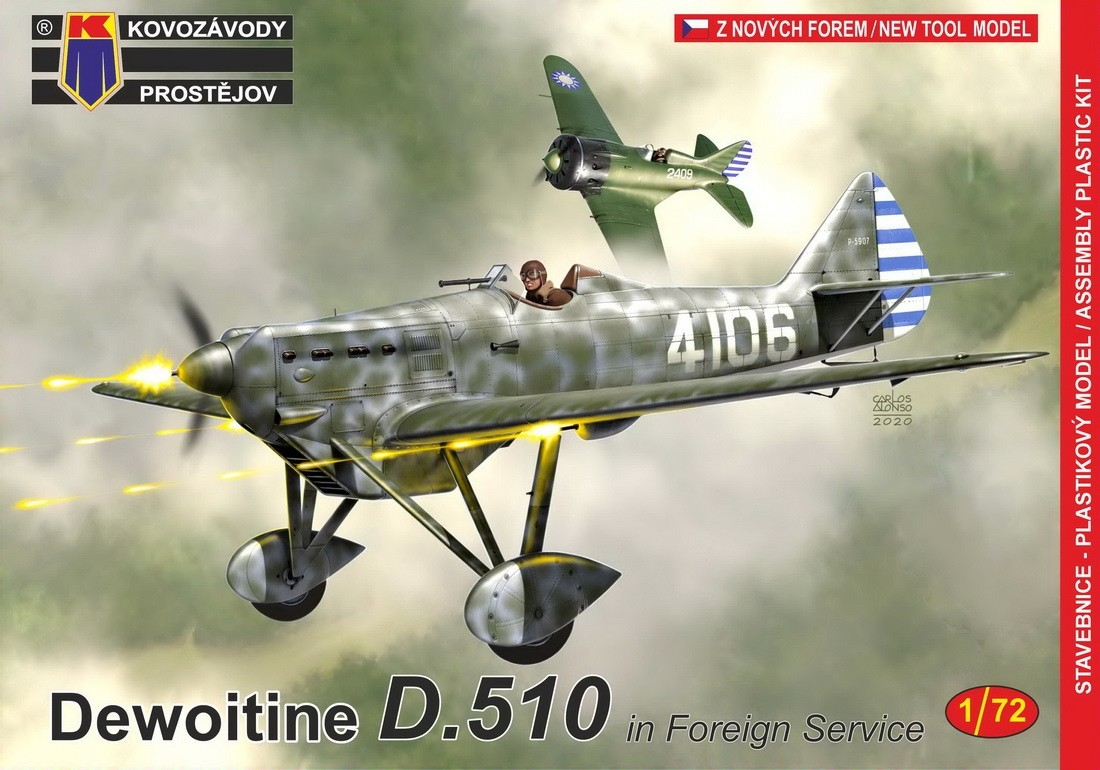 Dewoitine D.510 In foreign Service NEW MOULD