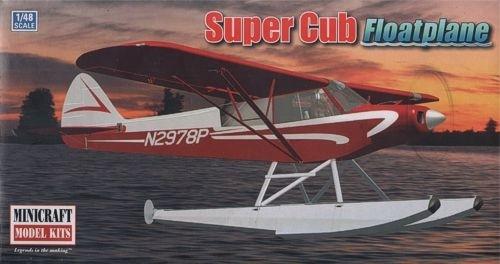 Piper Super Cub Bush plane with floats