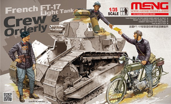 French FT-17 Tank Crew and Orderly