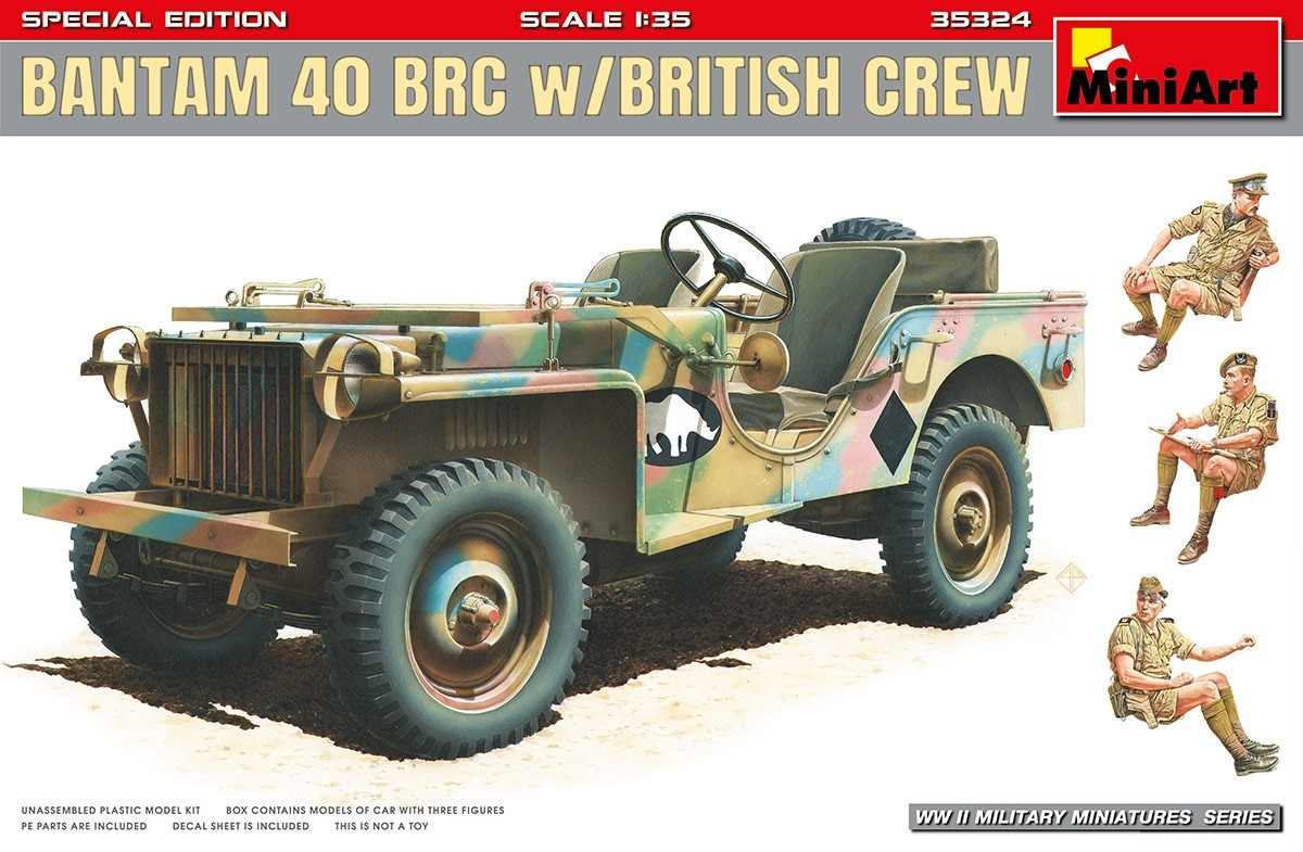 Bantam 40 BRC w. British crew. Special edition
