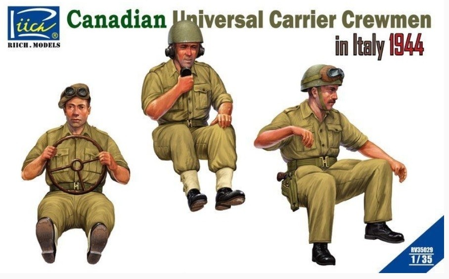 Canadian Universal Carrier Crewmen in Italy 1944