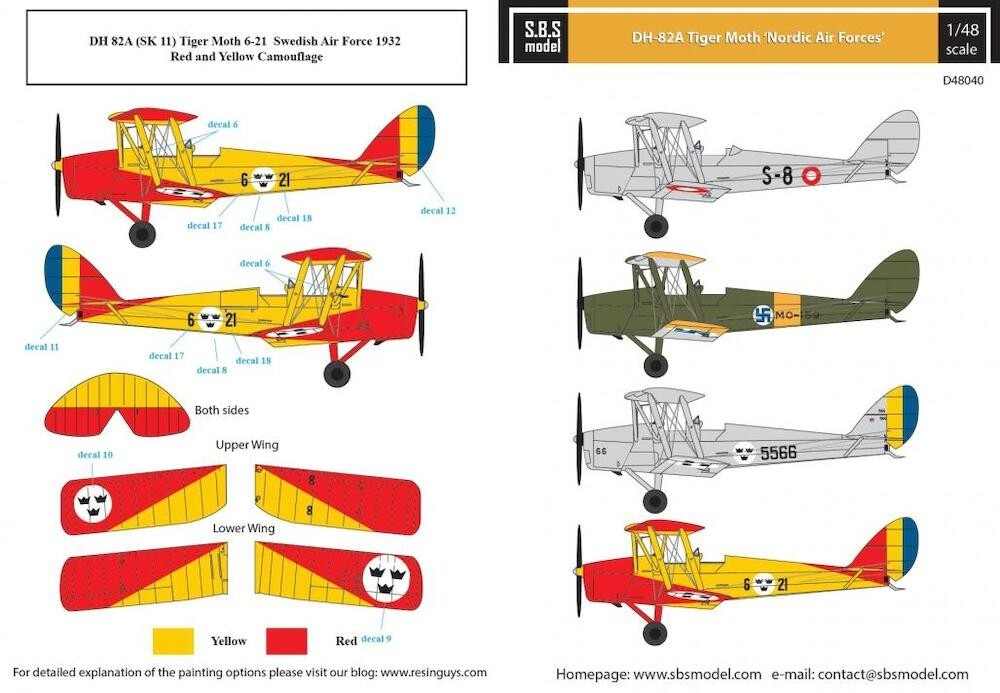 Tiger Moth, Nordic Air Forces