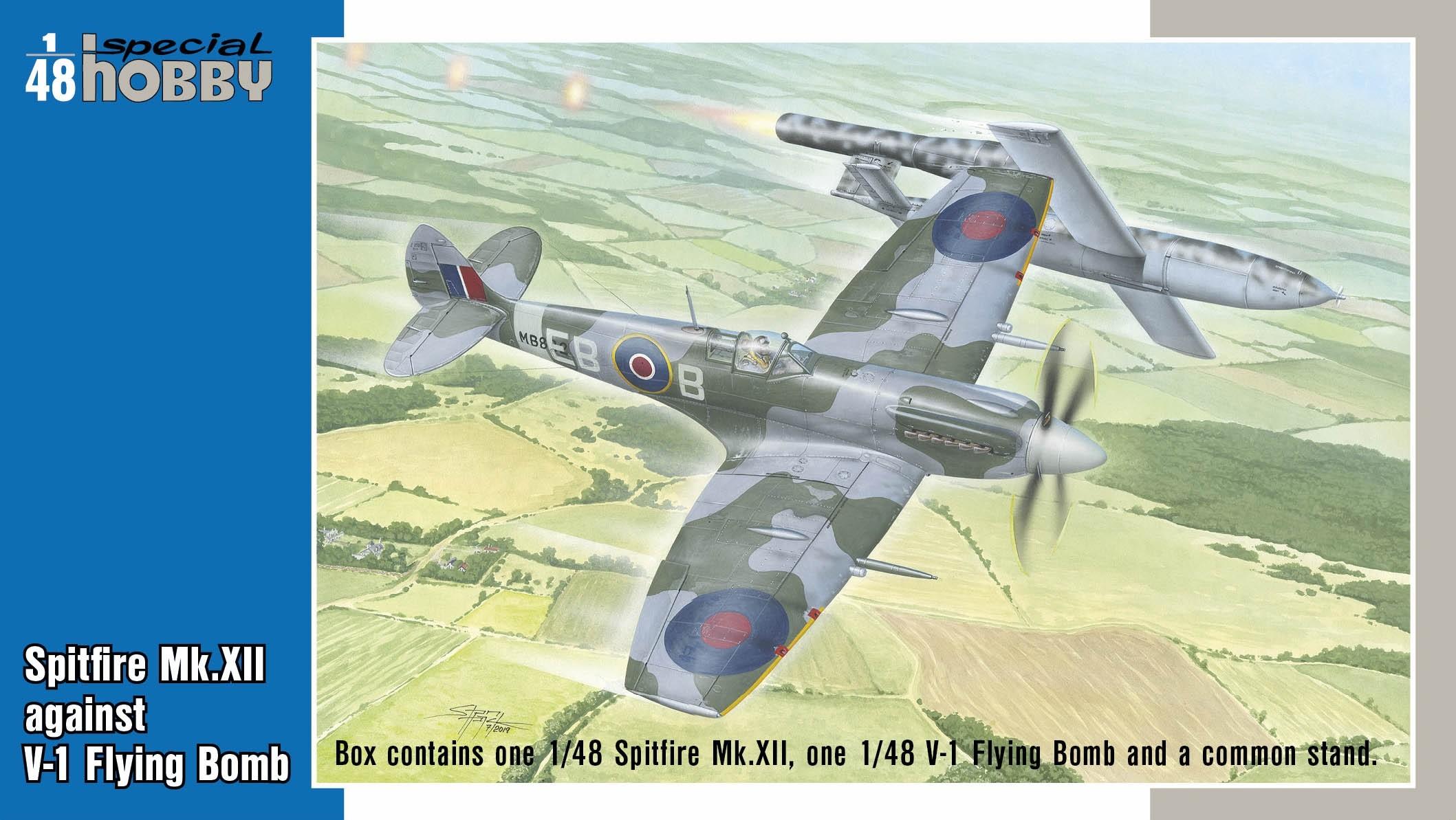 Supermarine Spitfire Mk.XII against V-1 Flying Bomb