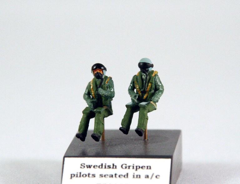 Swedish Gripen pilots seated x 2