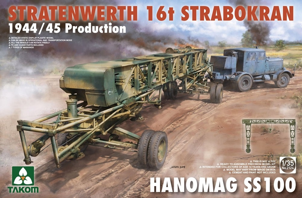 Stratenwerth 16t Strabokran 1944/45 Production w. Hanomag SS100