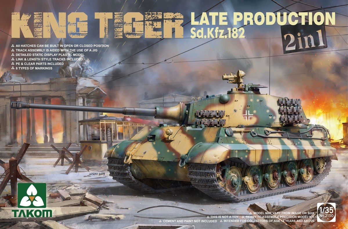 SdKfz182 King Tiger Late Production 2 in 1
