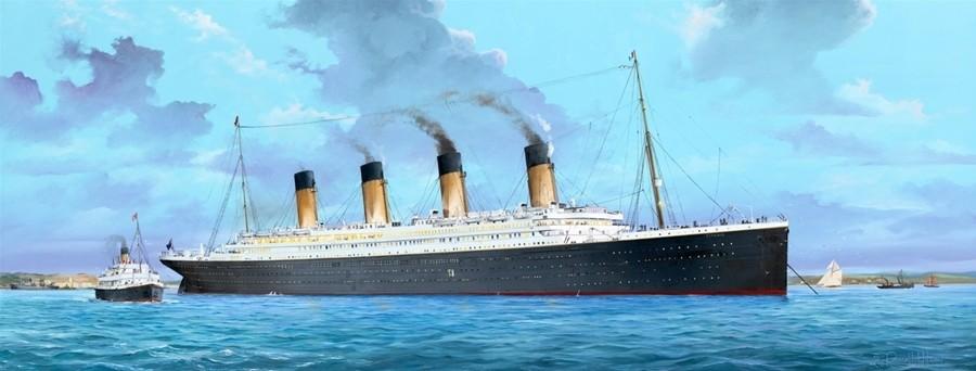 RMS Titanic, 135 cm. incl. LED lighting set  12 feb 2020