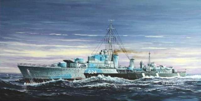 HMS Huron G24 British Tribal Destroyer 1944
