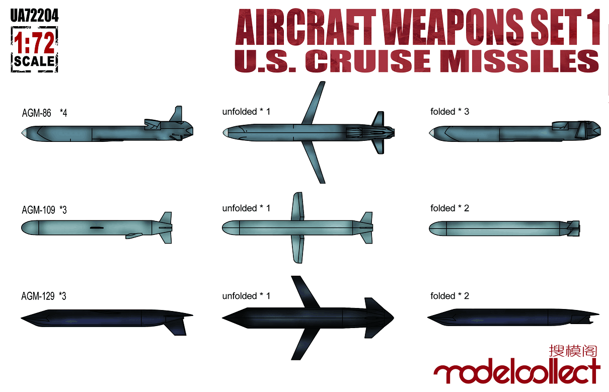 Aircraft weapons set 1 US cruise missiles