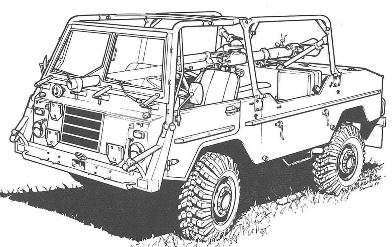 Volvo C303 Pansarvärnspjästerrängbil