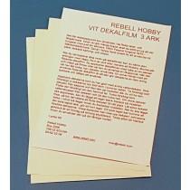 Vit dekalfilm A4 för laserskrivare, 3-pack
