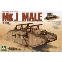 WWI British Battle Tank Mark I (2 in 1)